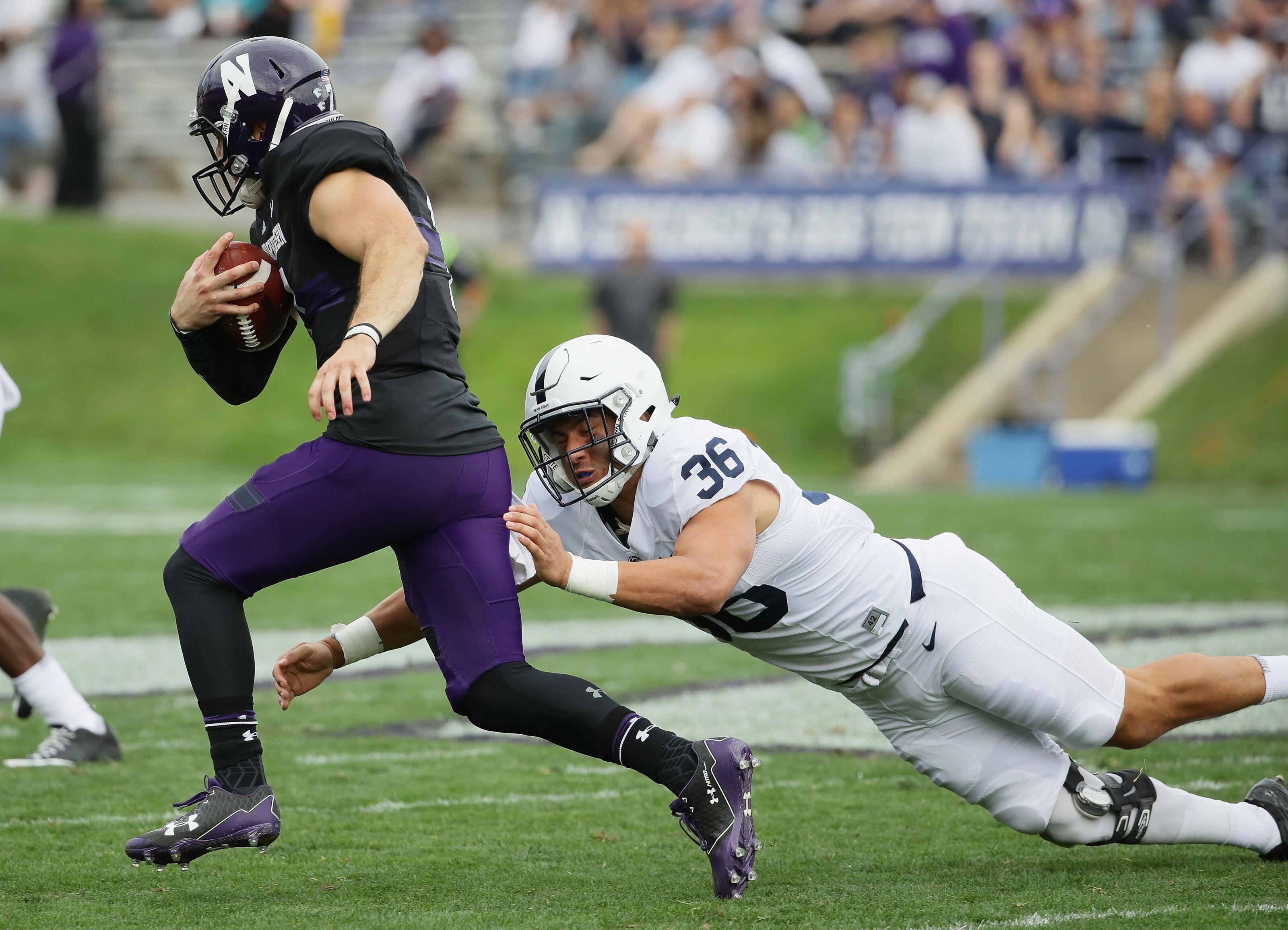 Penn State football LB Jan Johnson makes PFF's Big Ten Team of the Week