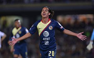 e0ddc7ca0 MEXICO CITY – Diego Lainez celebrates after scoring Thursday night to give  América a 1-0 first-half lead. (Photo by Jaime Lopez Jam Media Getty Images)