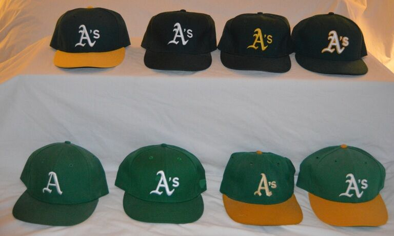 100% authentic 1d8b3 dfae4 Oakland Athletics: Caps Through the Years