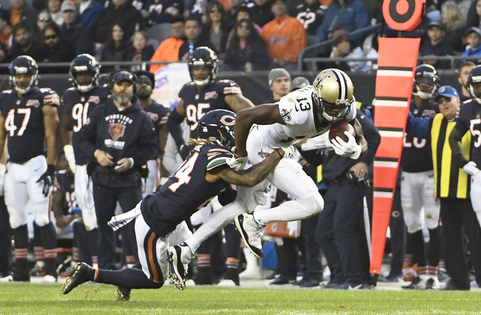 Saints keep the winning grind going outlasting the Bears on the road to go to 6-1