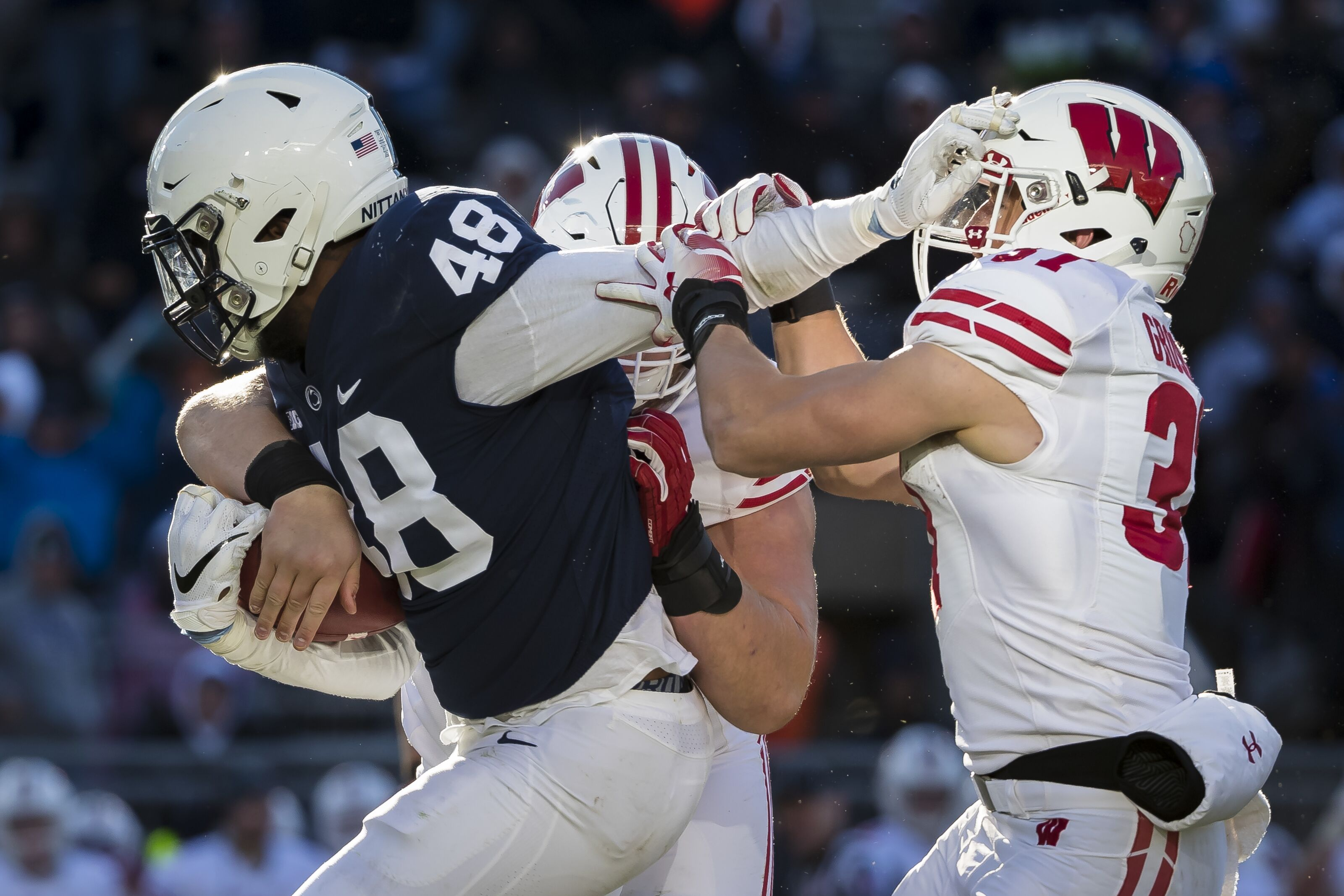 finest selection 85eb6 00ddb Penn State DE Shareef Miller meeting with Saints, late round ...