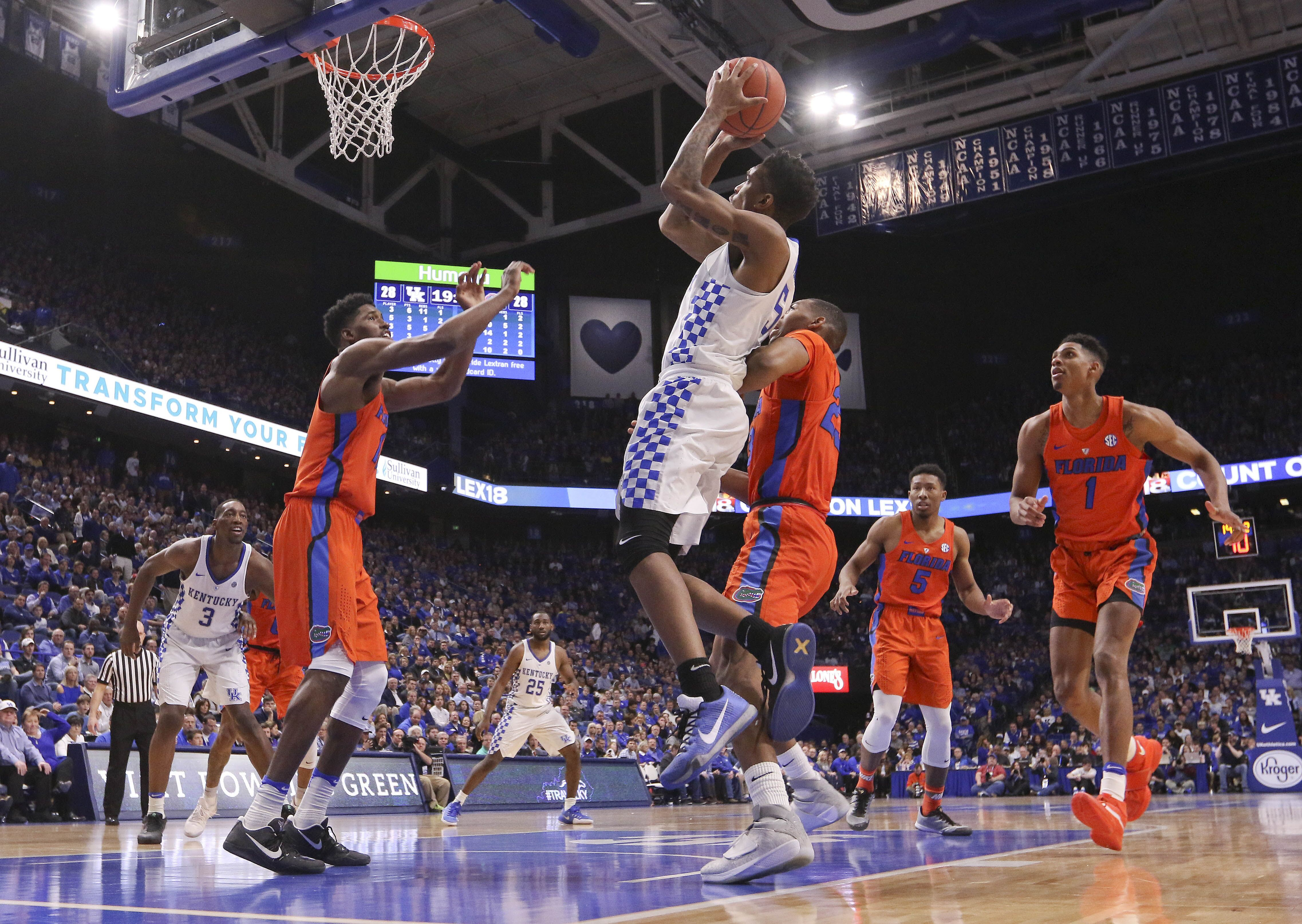 Kentucky Basketball What The Florida Win Means To The: Kentucky Basketball: Malik Monk, Bam Adebayo Leads