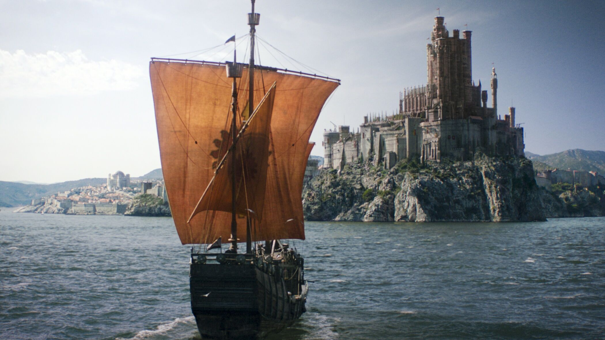 Pics from the filming Game of Thrones prequel reveals a ship with a mysterious sigil