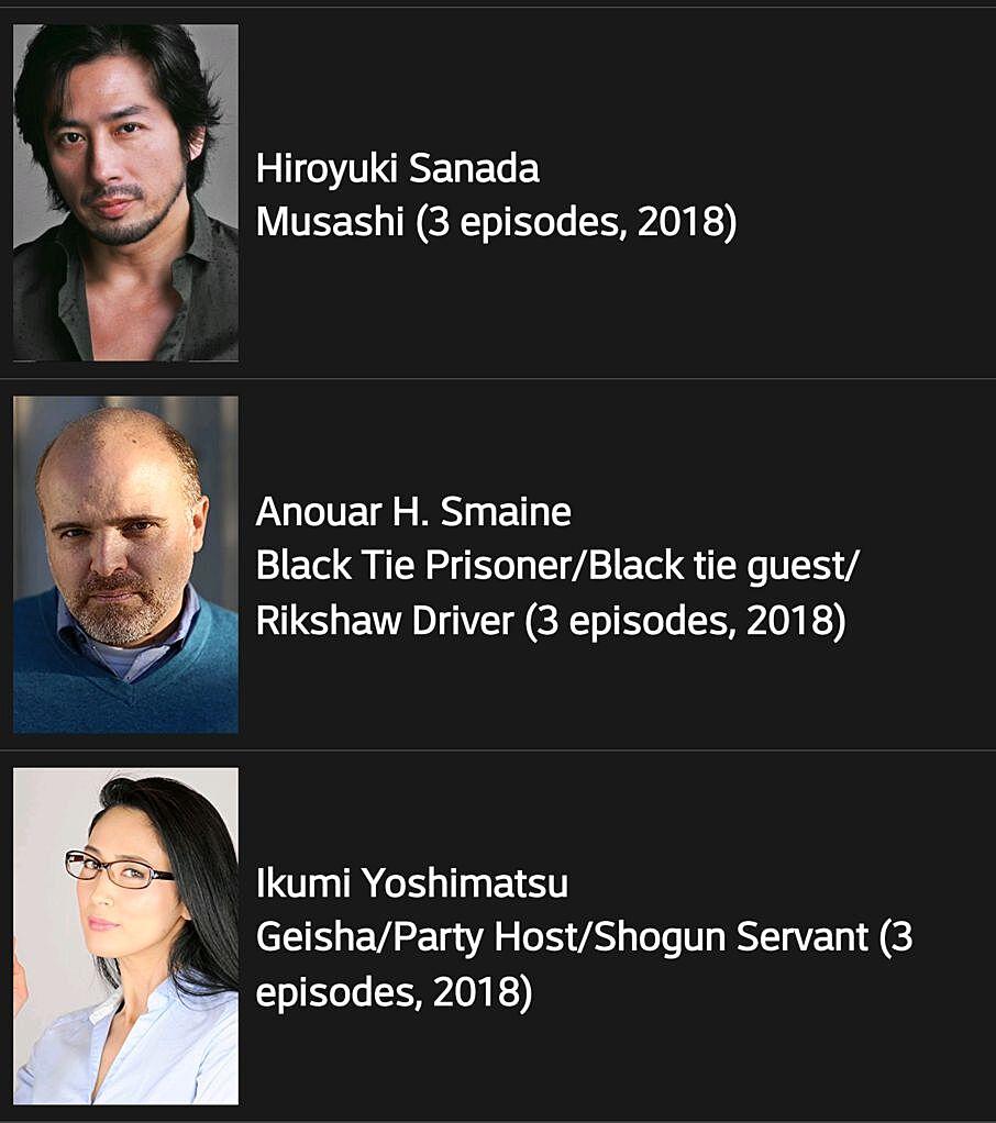 Shogun World Casting IMDB.