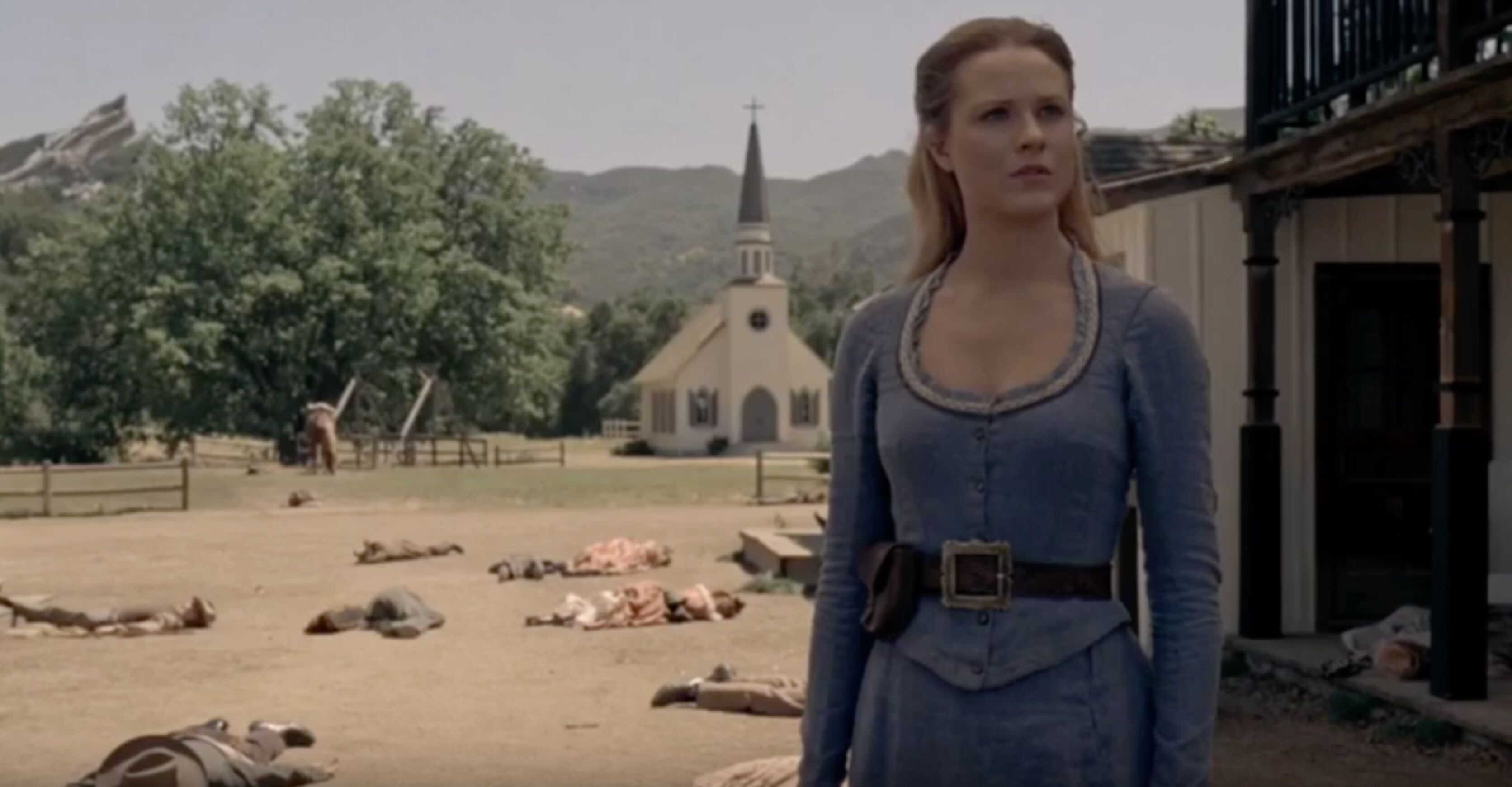 Iconic Westworld set survives California wildfire