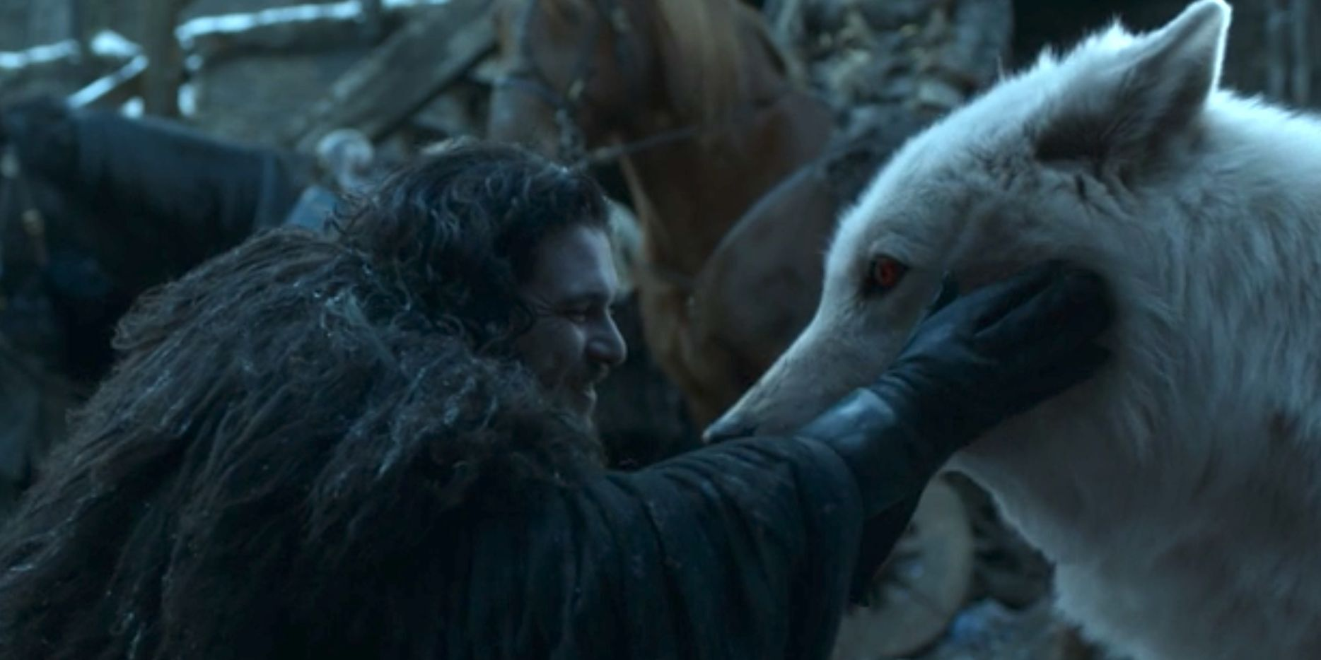 """Twitter reacts to Jon and Ghost's tender moment in """"The Iron Throne"""" - Winter is Coming image"""