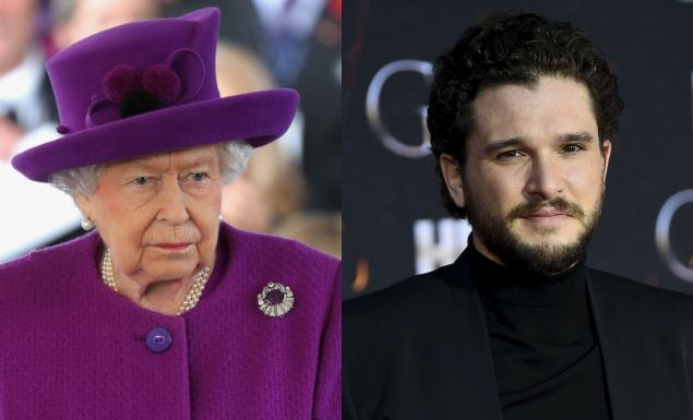 That time Queen Elizabeth visited the Game of Thrones set and had no idea who Kit Harington was