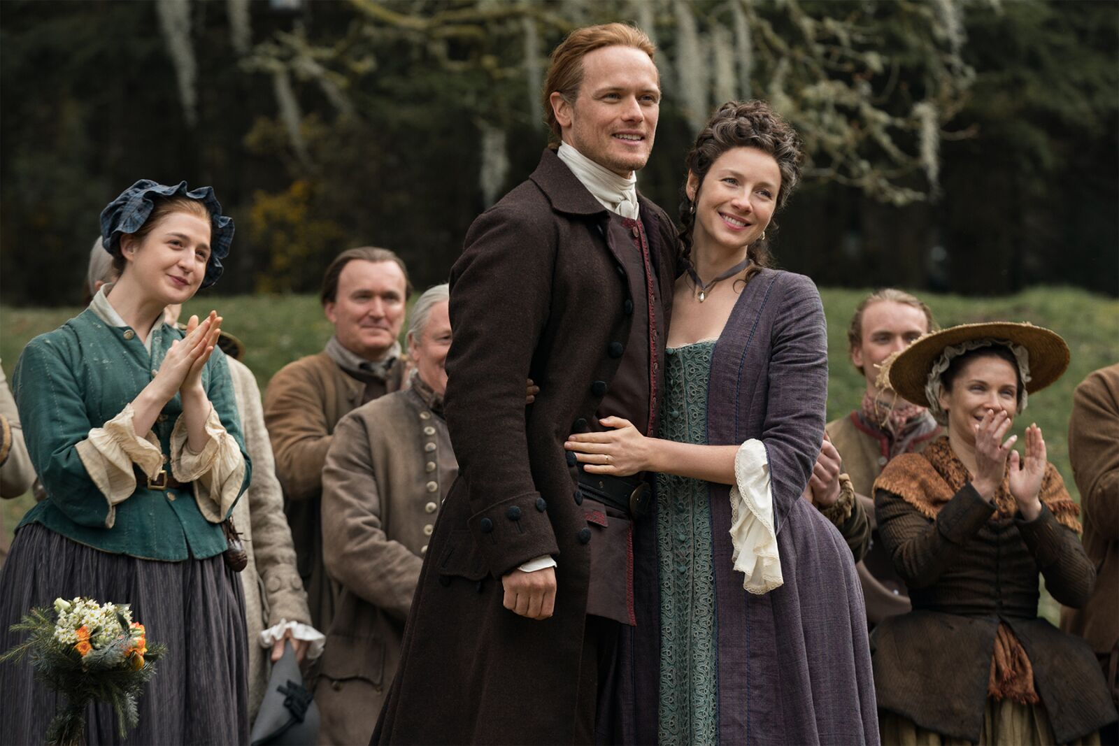 """Sam Heughan: """"Claire and Jamie are still the sexiest couple"""" on Outlander"""