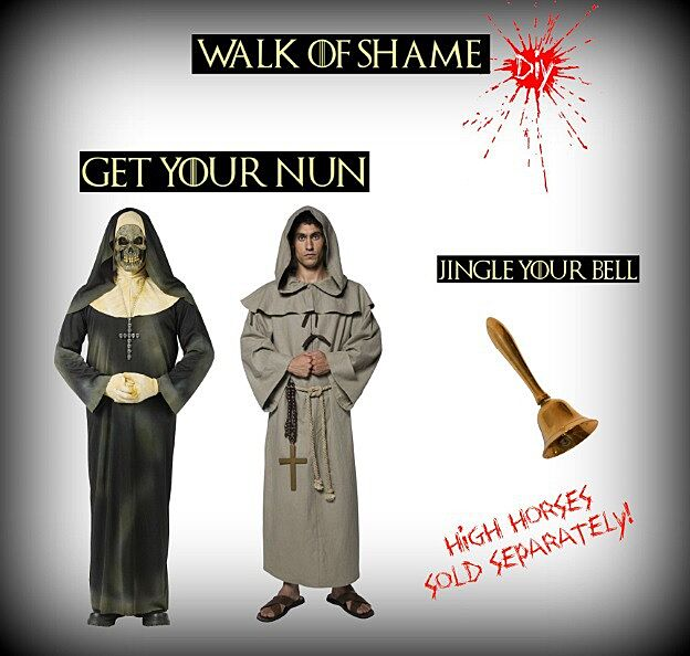 Make your own giy game of thrones shame costume diy shame nun costume solutioingenieria Image collections