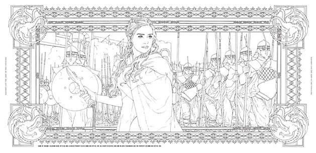 Official Game of Thrones coloring book coming from HBO