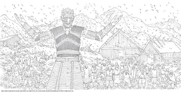 The Night King At Hardhome Got Coloring Book Game Of Thrones