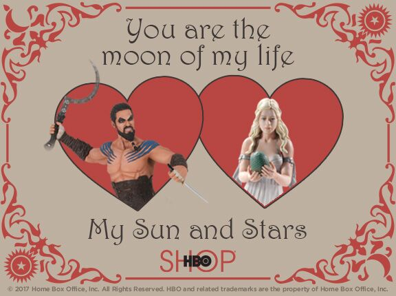 Hbo Releases Game Of ThronesThemed ValentineS Day Cards