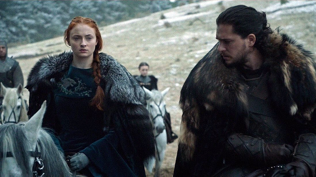 Game of Thrones' Kit Harington urges Sophie Turner 'to shush' as she leaks embarrassing show secrets