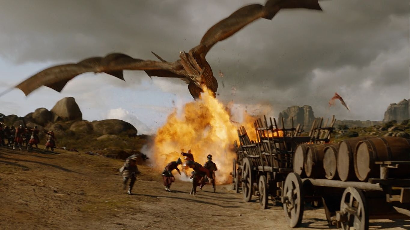 Image result for Game of Thrones dragon burning city