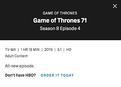 Runtimes for EVERY episode of Game of Thrones season 8, revealed