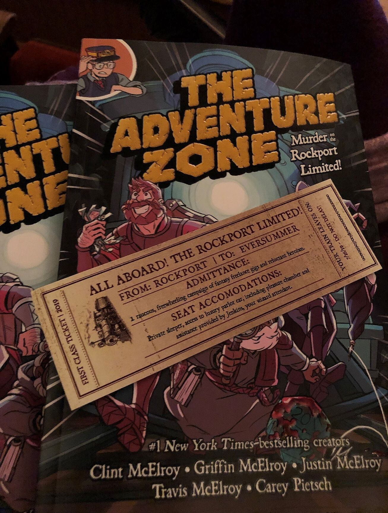 The Adventure Zone: Murder on the Rockport Limited!' tour is