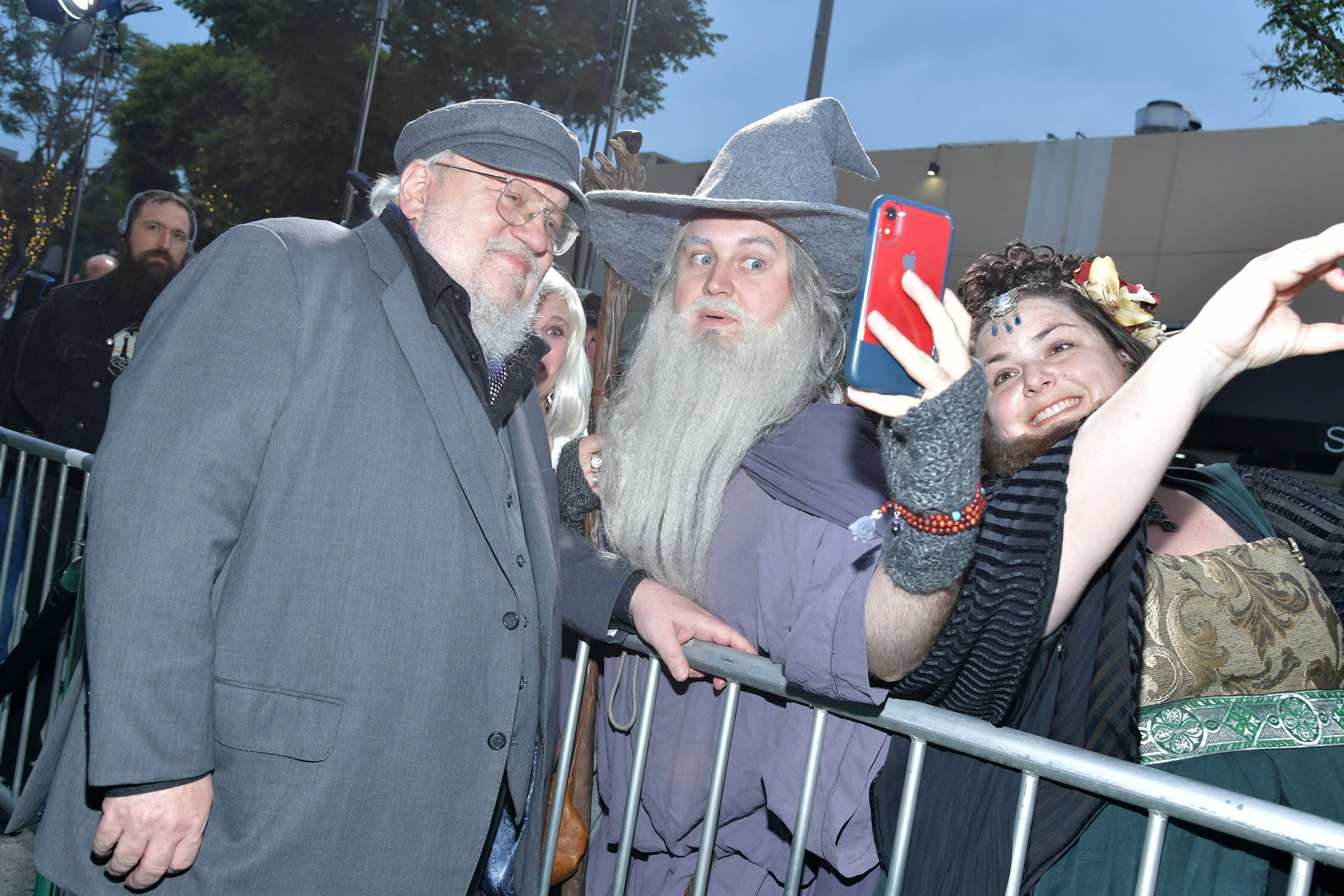 George R.R. Martin returns home after tour of the British Isles