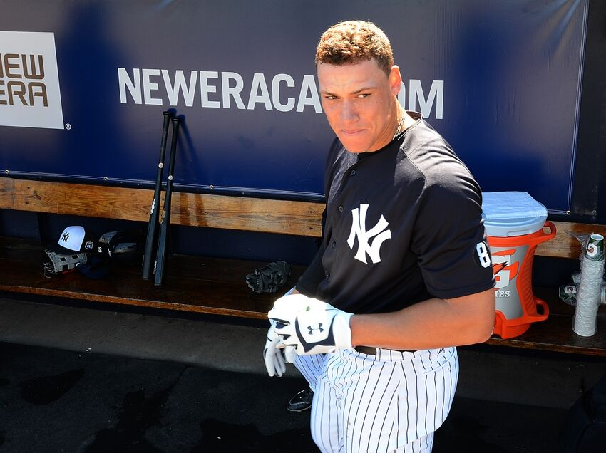timeless design 3cfa0 4384d New York Yankees Spring Training Game Recap: Homers by Baby ...