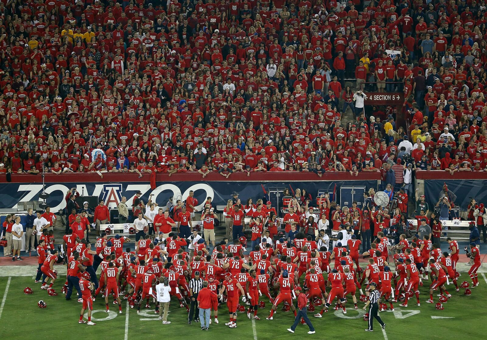 Zona Zoo Is Getting An Upgrade To Student Seating In Arizona Stadium
