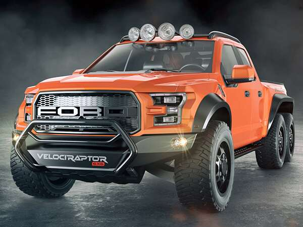 Hennessey Ford F 150 Raptor Velociraptor 6x6 The Drive Off Road Truck Six Wheel