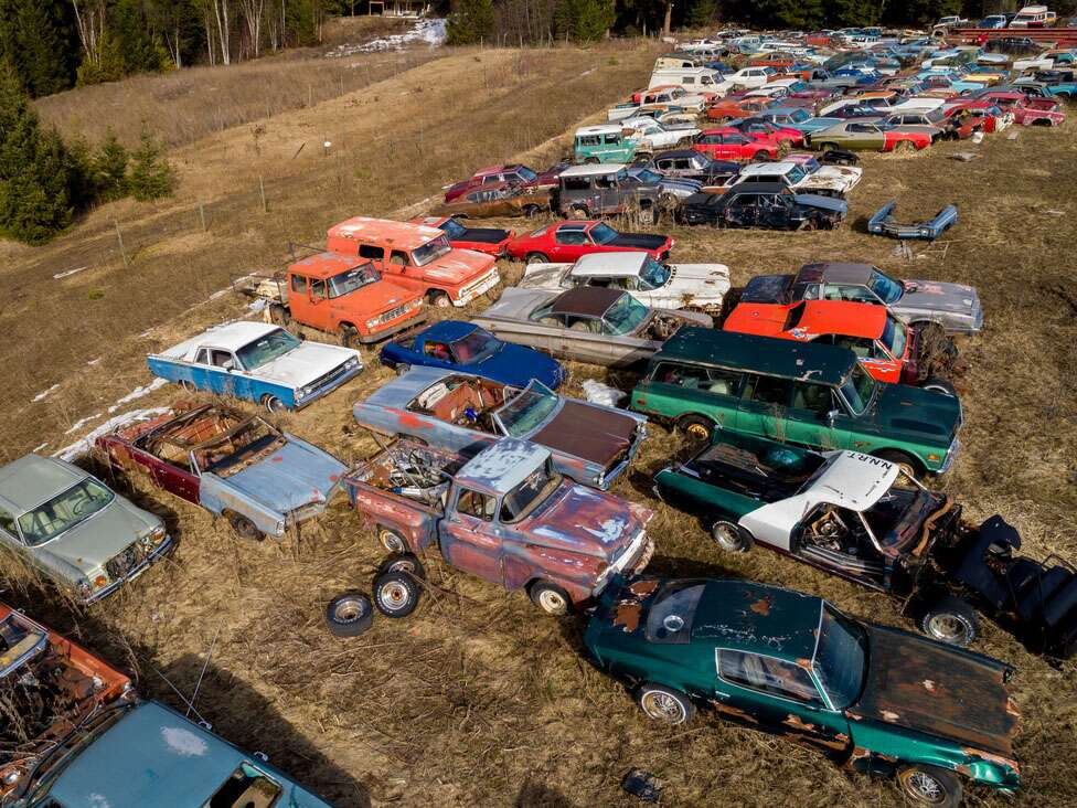For Sale in Canada: Five Acres, 340 Vintage Cars - The Drive