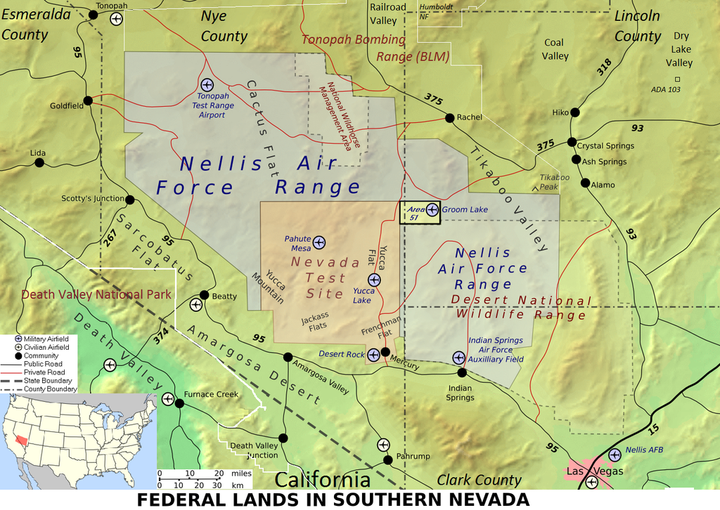 The US Air Force Is Planning Something Big Out In The Nevada - Edwards afb map