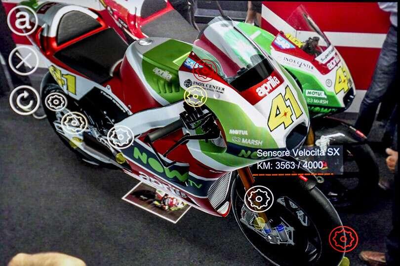 ebb060d3e750 Aprilia Racing Helped Make an Augmented Reality Helmet for Mechanics ...