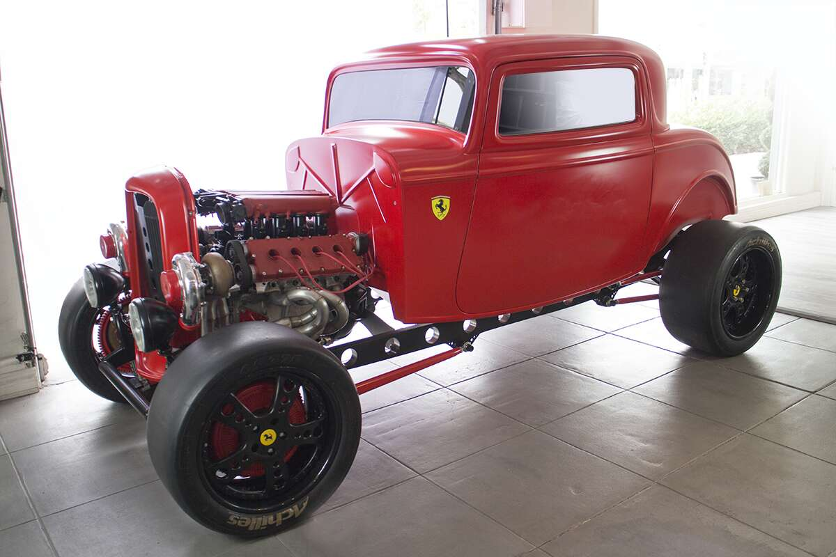 This 1932 Ford with a 950-Horsepower Ferrari Engine Is for Sale ...