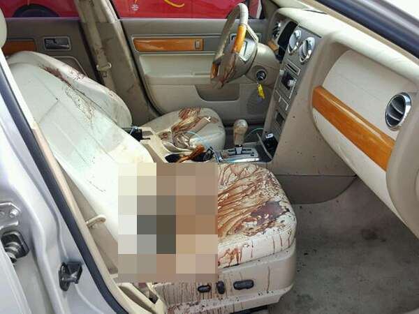 You Wont Believe How Much Blood Is Inside This 2007 Lincoln MKZ At