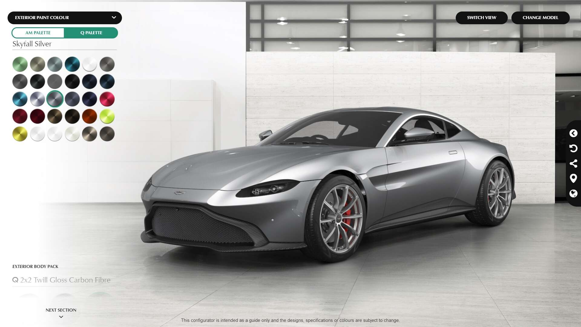 avoid your family this thanksgiving with aston martin 39 s vantage configurator the drive. Black Bedroom Furniture Sets. Home Design Ideas