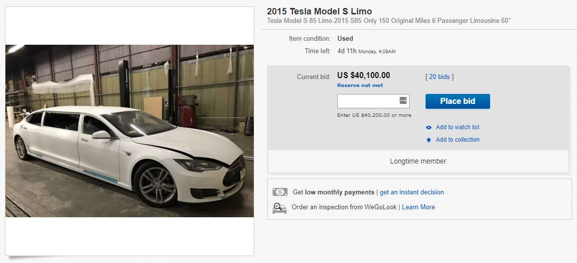 There\'s a Tesla Model S Limo for Sale on eBay - The Drive