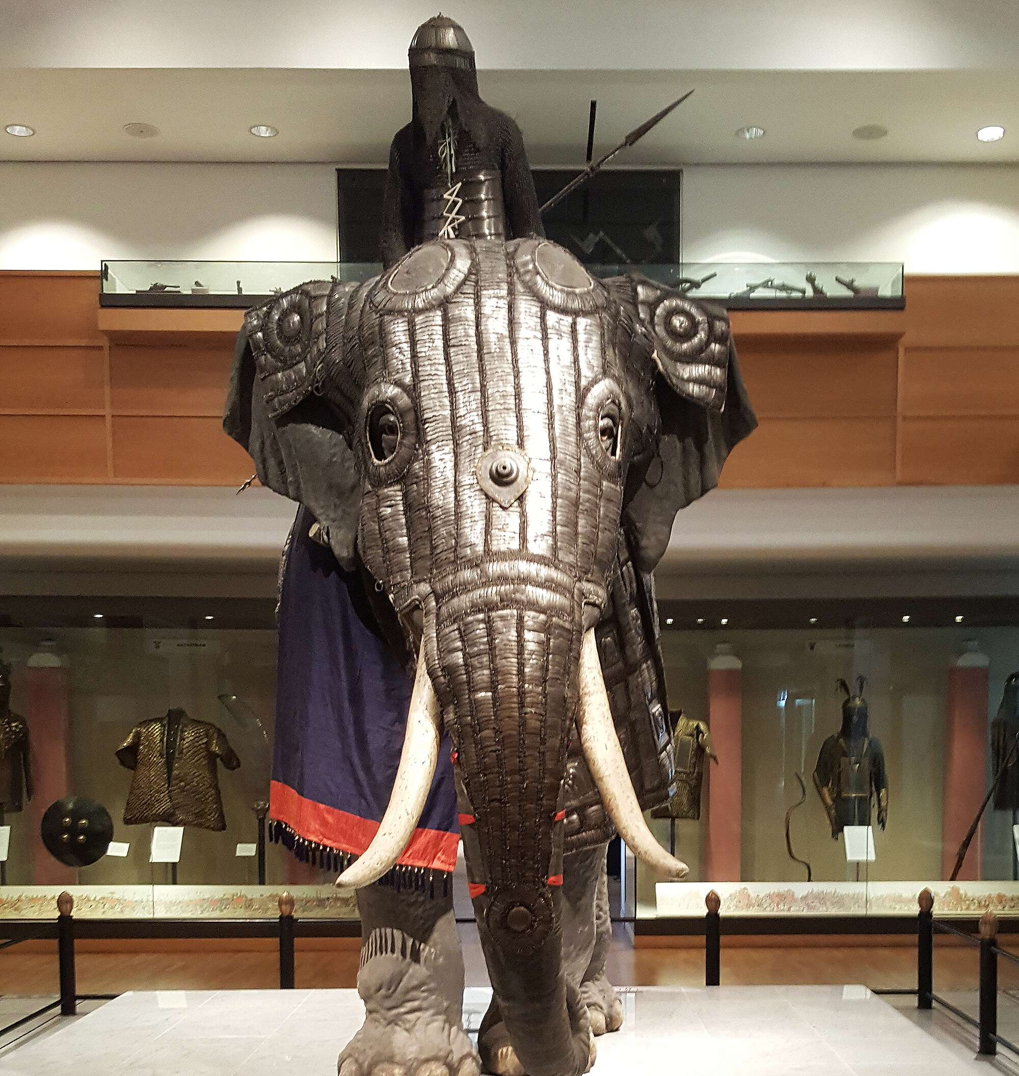 Image result for mughal elephant armor