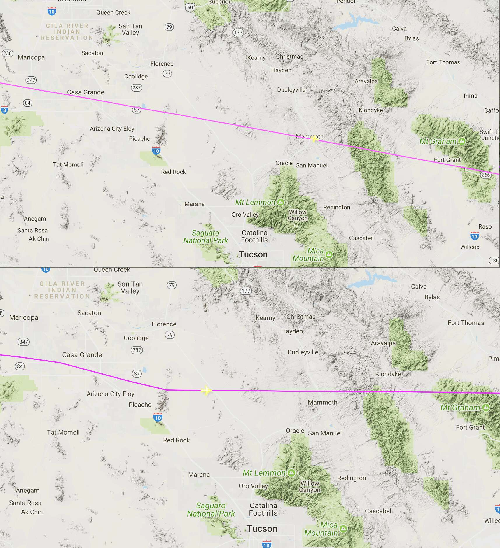Learjet And Airbus Had Strange Encounter With Mysterious Craft Over Arizona 16