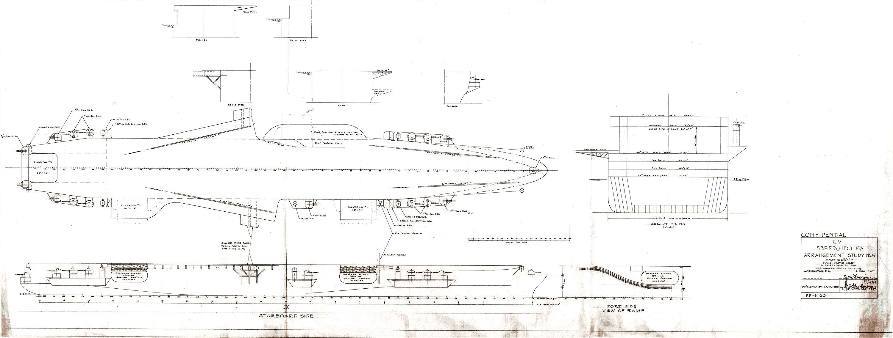 The Nuclear Bomber Carrying Uss United States Was Going To Be Parts Of A Catapult Diagram Engine Car And Component National Archives