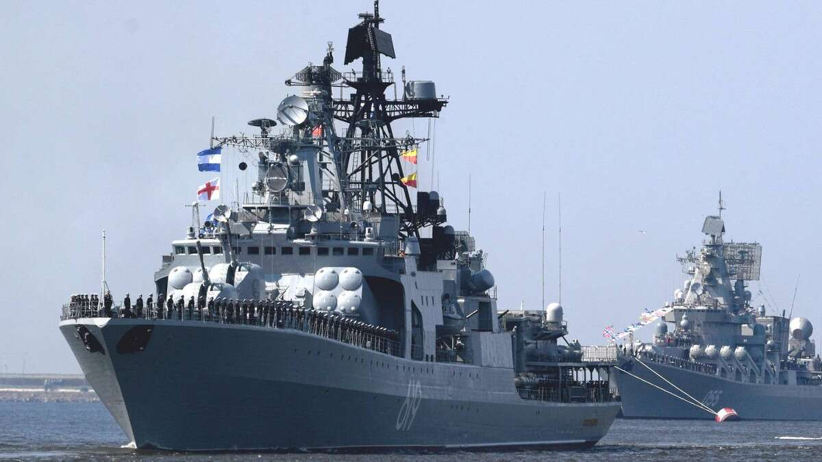 The Russian Udaloy-class destroyer Severomorsk