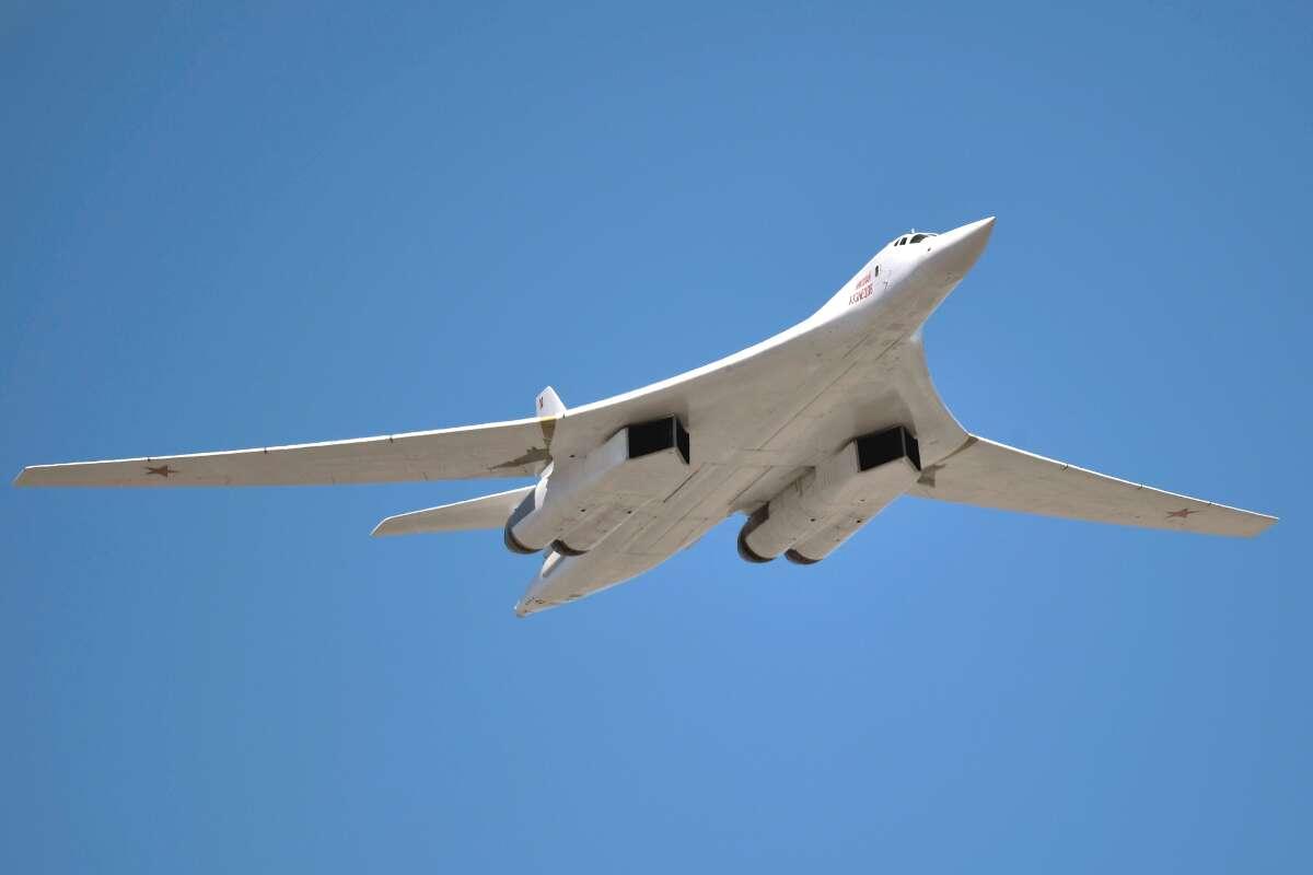 A Russian Tu-160 bomber.