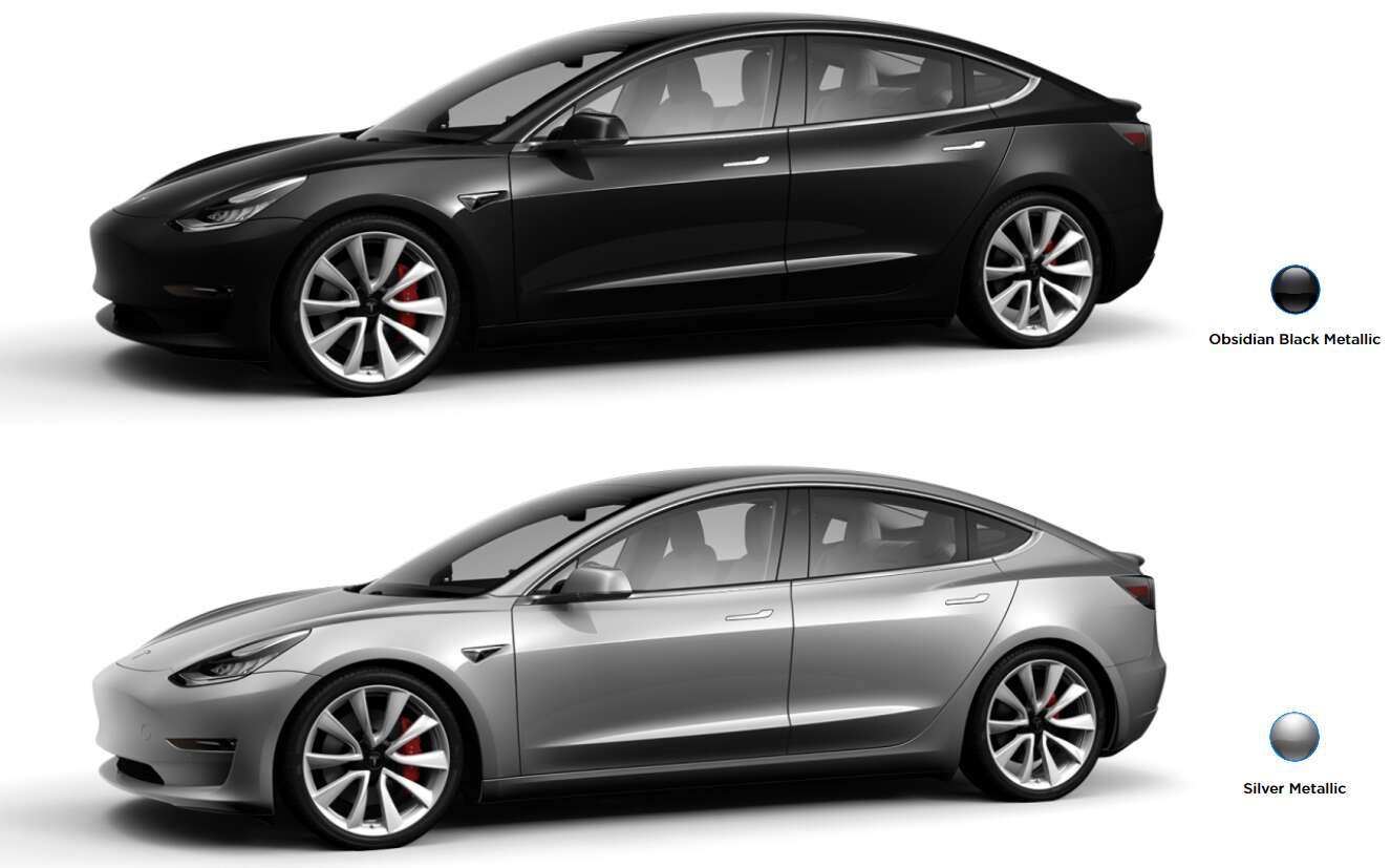 Via Tesla Will Be Removing Obsidian Black Metallic And Silver From The Model 3 S