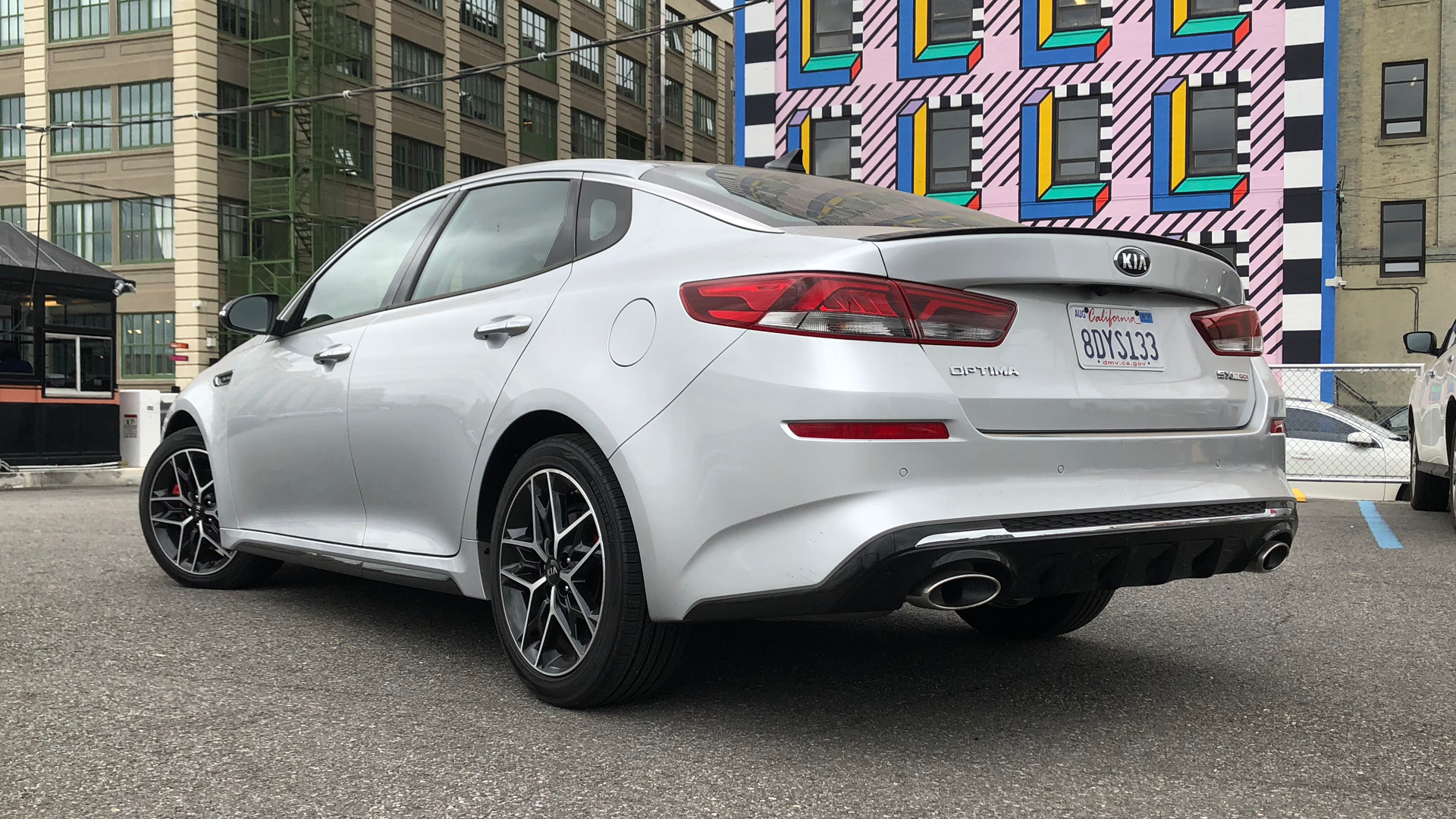 2019 Kia Optima Sx Test Drive Review A Sporty Turbocharged Family Rear Spoiler Erica Lourd