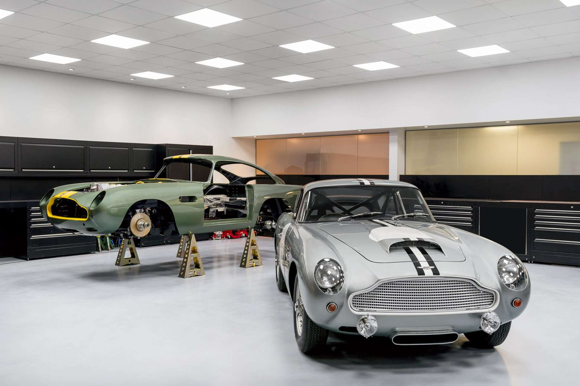 aston martin works opens heritage satellite showroom in london to