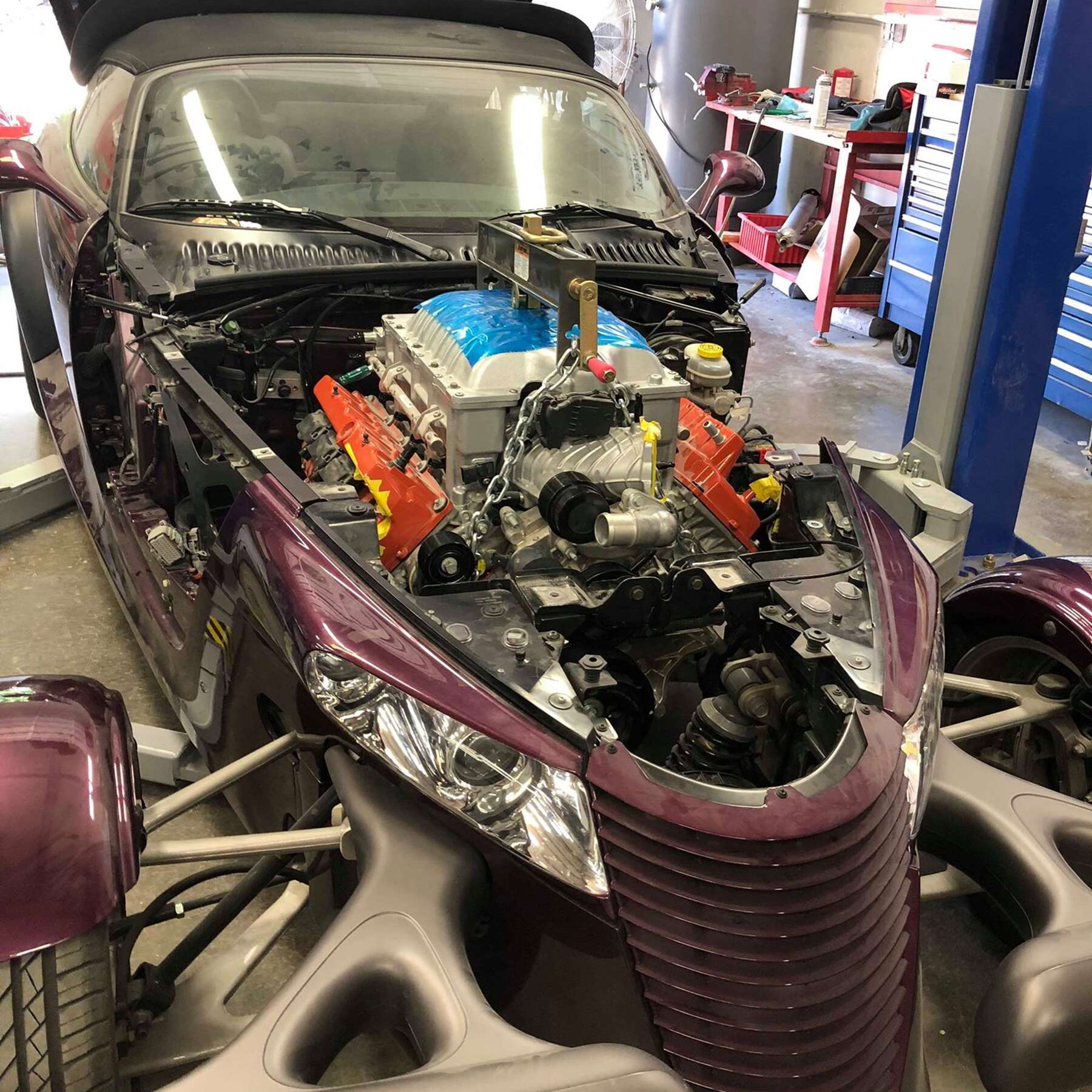 This Hellcat-Swapped 1999 Plymouth Prowler Rights A