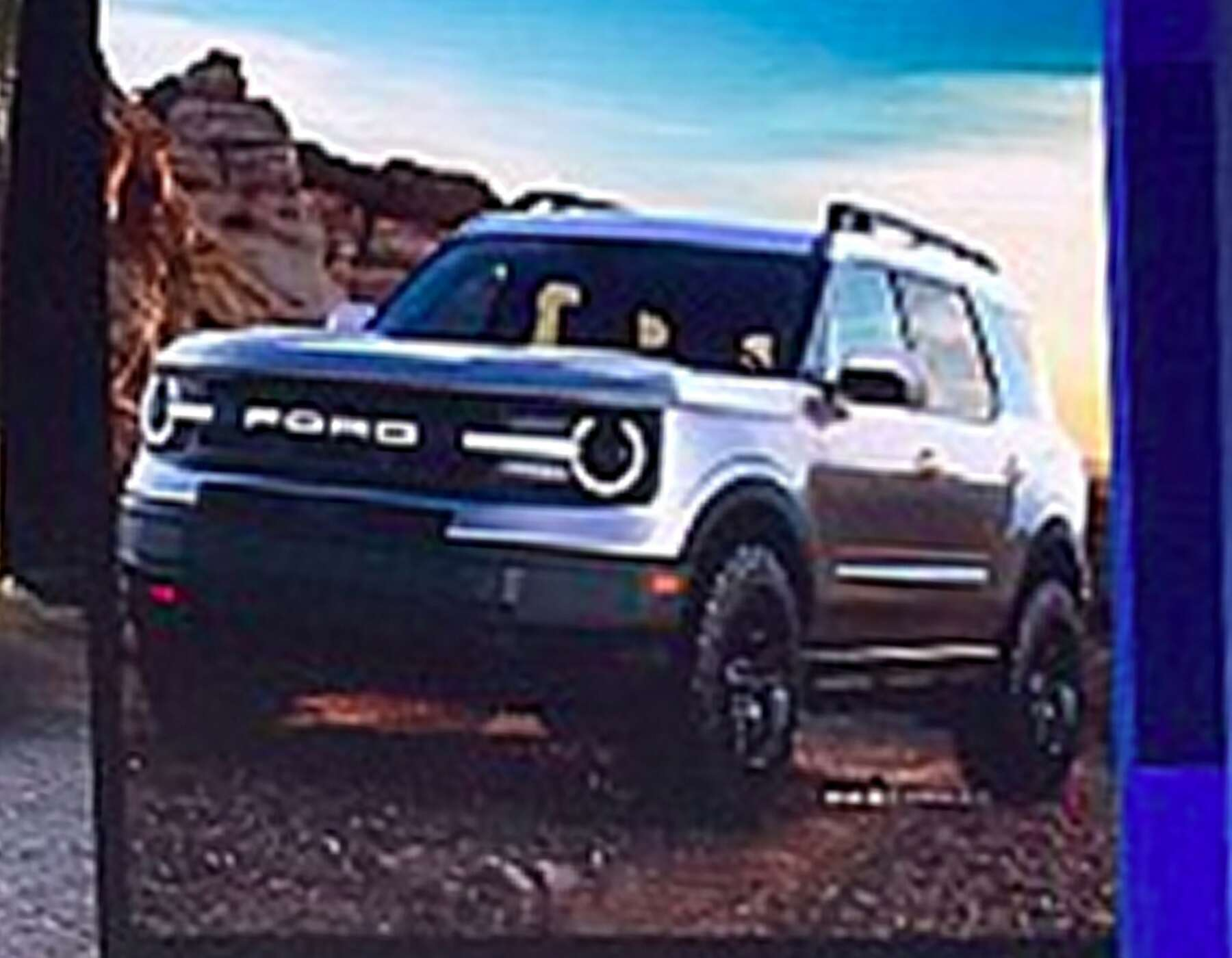 leaked images    ford broncos baby brother update  drive