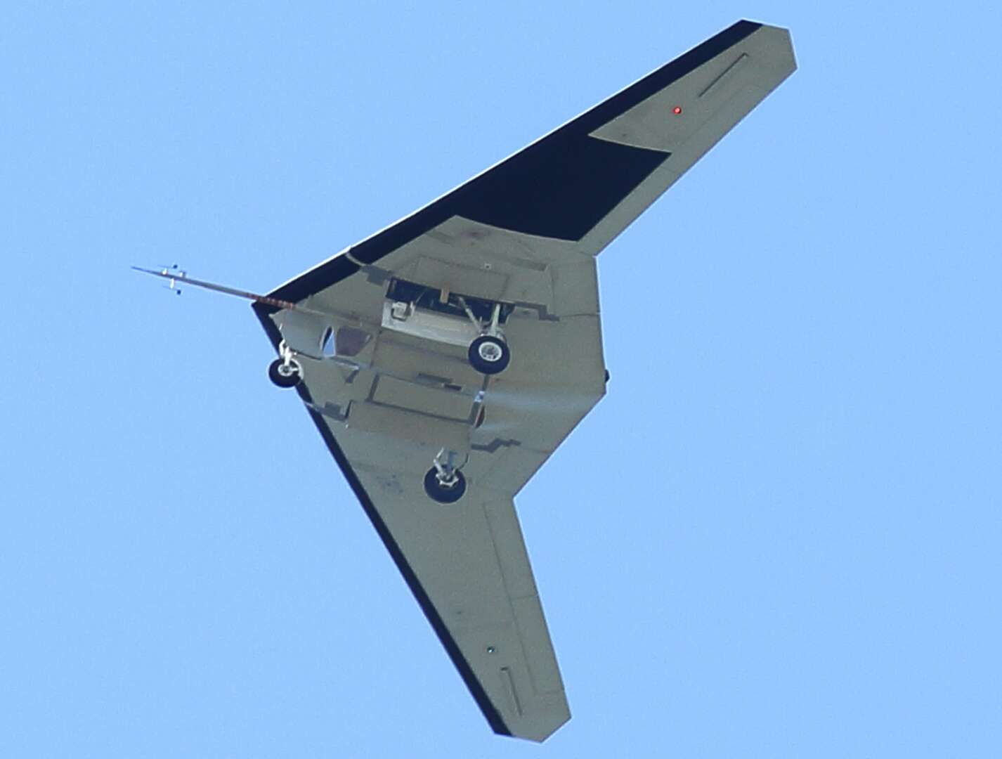 rq 170 stealth drone with Exclusive Uniquely Configured Rq 170 Stealth Spy Drone Appears At Vandenberg Afb on Details On New Classified Rq 180 Stealth Spy Drone Being Tested By Us Air Force At Area 51 further 7 together with Lockheed Martin SkunkWorks UAV Concept 295x180 together with Neuron Program  pletes Stealth Test Flights moreover Pg1.
