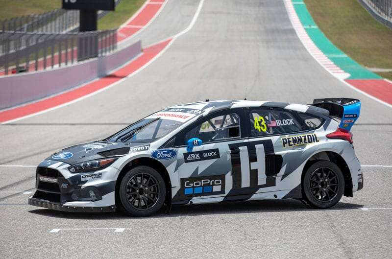 ken block unveils new ford focus rs rx for the americas rallycross championship the drive. Black Bedroom Furniture Sets. Home Design Ideas