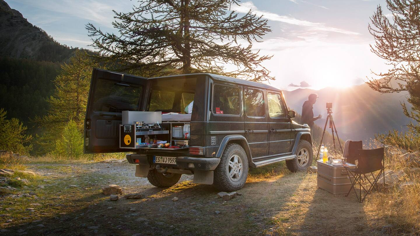 This Box Turns The Mercedes Benz G Wagen Into A Camperin Two Camper Ququq