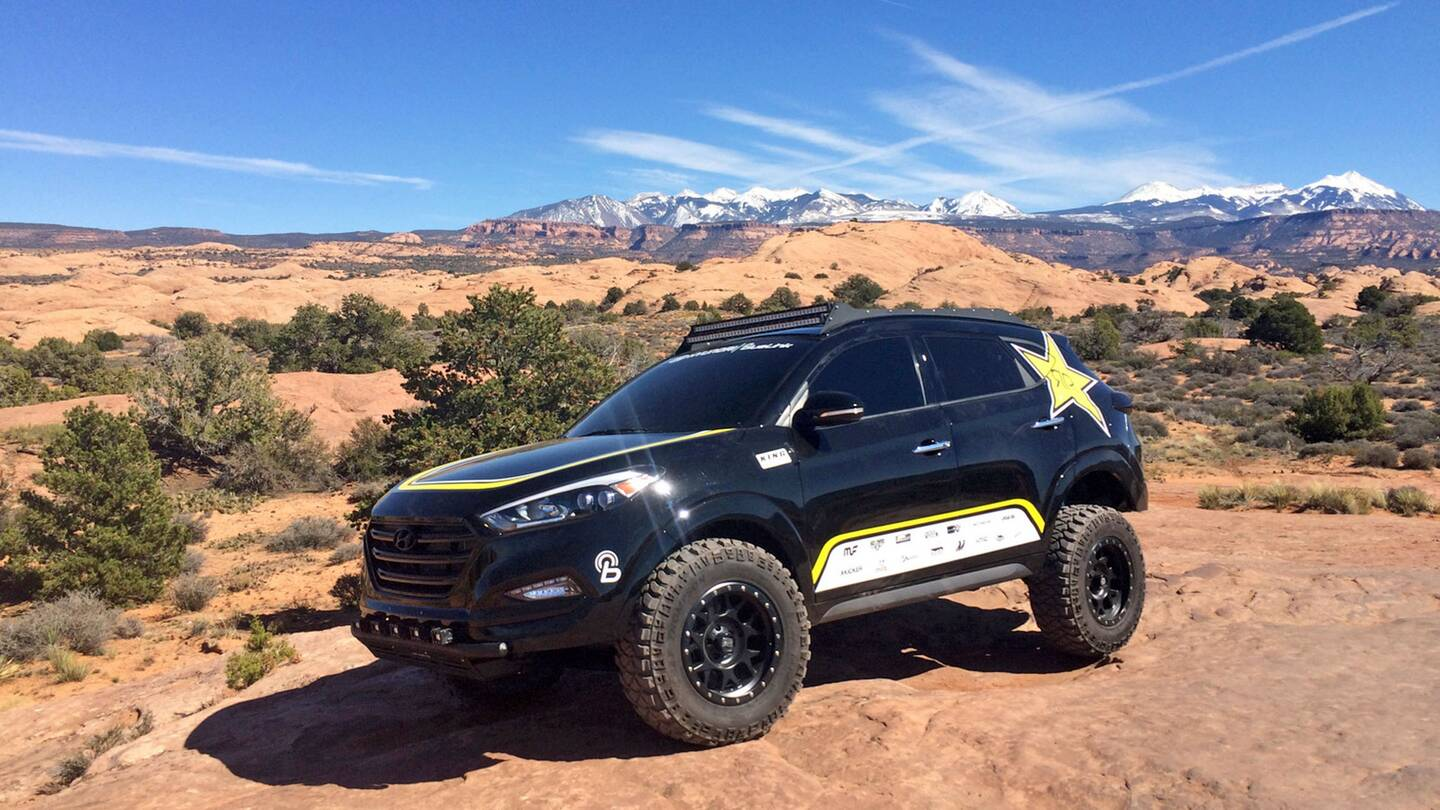 attacking moab in an off road hyundai tucson the drive