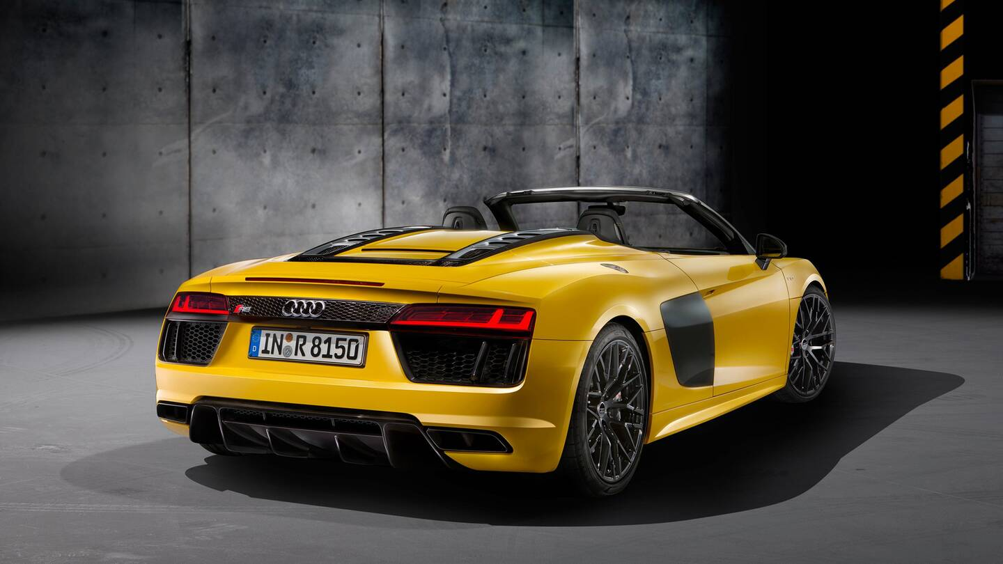 The New Audi R8 Spyder Is A Sports Car To Be Seen In The Drive