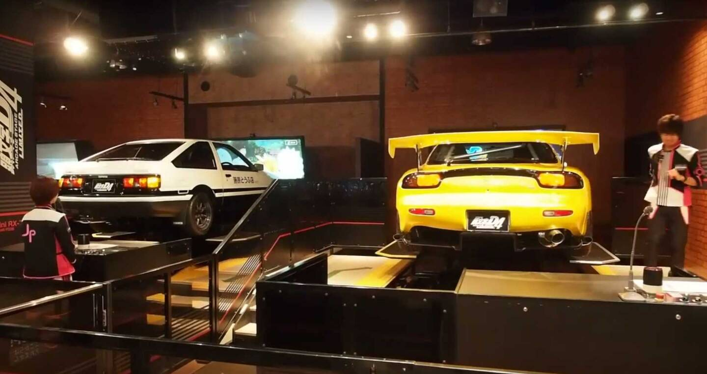 dorifto initial d arcade game has real moving cars the drive