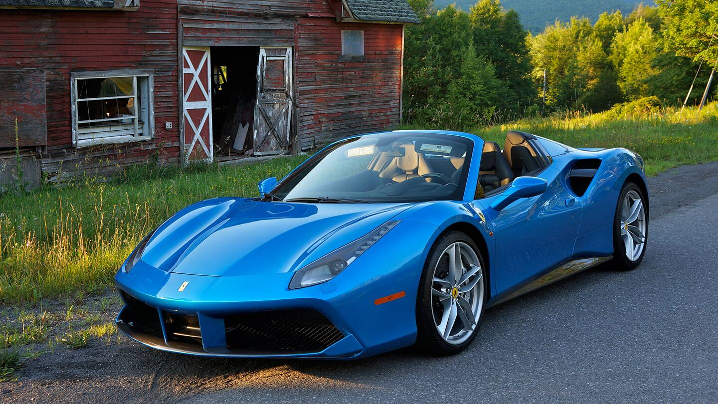 a ferrari 488 spider goes to woodstock - the drive