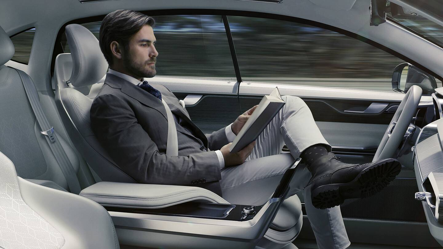 Volvo S Concept 26 Seat Is An Autonomous Car Trust Fall The Drive