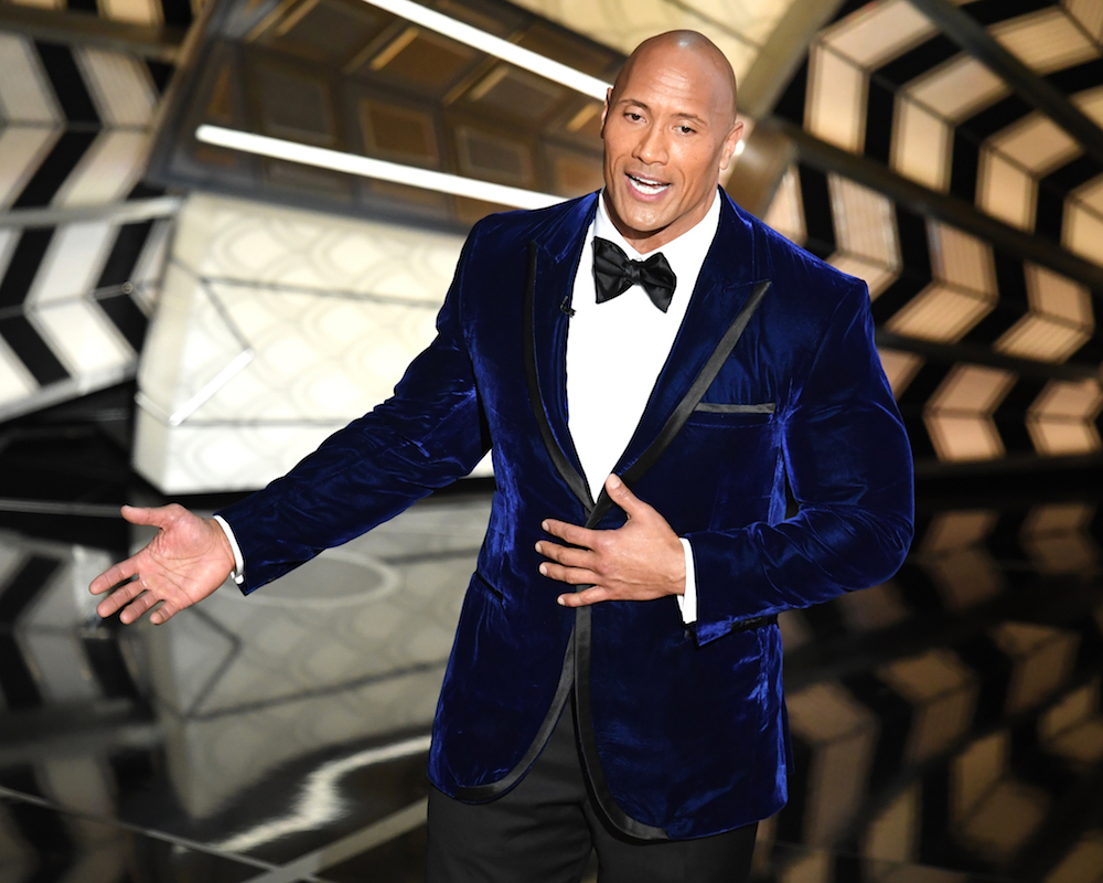 Dwayne Johnson onstage during the 89th Annual Academy Awards
